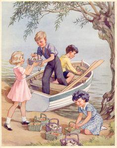 The secret island by Enid Blyton. Illustrator: E. H. Davie.
