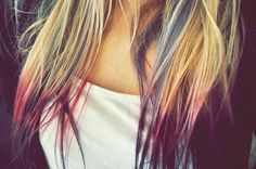 Bright colors on dirty blond hair