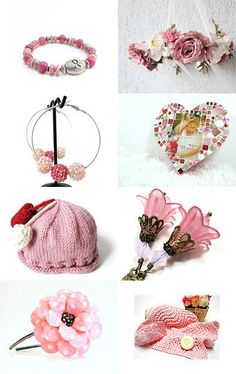 Pretty In Pink by Carol Schmauder on Etsy--Pinned with TreasuryPin.com