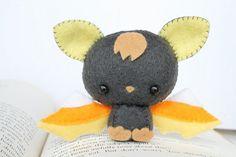 PDF Pattern  Felt Candy Corn Bat Nogget Plush by typingwithtea