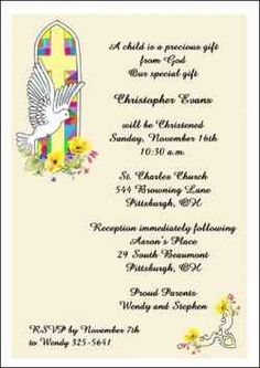 Largest collection of Christening invitations online. Reduce your cost with our free Christening invitation cards and express shipping, always. Baptism Invitation Wording, Christening Invitations, Invitation Cards, Invites, How To Celebrate Hanukkah, Online Invitations, Bereavement, Bar Mitzvah, Announcement