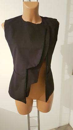 Vest Jacket, Ruffle Blouse, Etsy Shop, Pockets, Costumes, Elegant, Trending Outfits, Clothing, Shopping