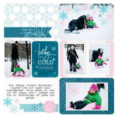Layout by Anna Rose. Features the Oh What Fun Winter Value Kit