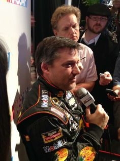 There's nothing Tony Stewart likes more than to meet the press. @Stewart Scott Scott Scott Scott Scott Scott Scott Scott-Haas Racing @NASCARONFOX