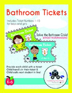 Bathroom Pass Tickets - Free download :)