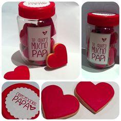 Bote de galletas o chuches personalizado para el día del Padre - regalos originales - manualidades infantiles
