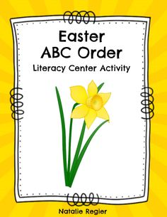 Easter ABC Order - The Easter ABC Order is a great activity to add to your literacy centers. It can also be used as a partner activity or an anchor activity for students to complete when they are finished their regular work. There are 6 sets of ABC cards at different levels. The first two sets contain words that students need to alphabetize to the first letter. Set 3 requires students to alphabetize the words to the second or third letter. #teachersherpa