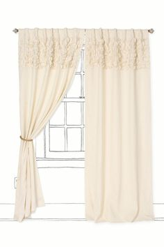 These curtains would add a soft touch to a girls bedroom without being overly girly. =)