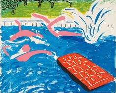 David Hockney, 'Afternoon Swimming,' 1979, Susan Sheehan Gallery