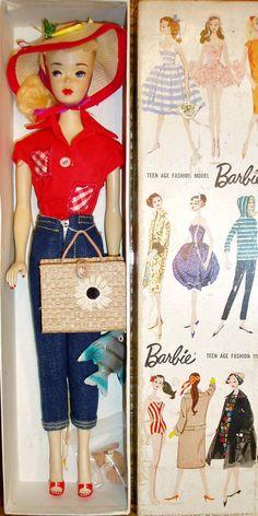 Vintage Barbie ~ Blonde #3 Ponytail in Picnic Set Variation ~ Sample?  #Barbie