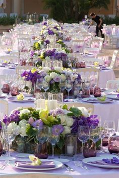 Go purple for a change!  Wedding by Monte-Carlo Weddings
