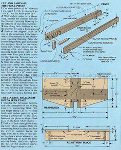 #2010 DIY Table Saw Rip Fence - Table Saw