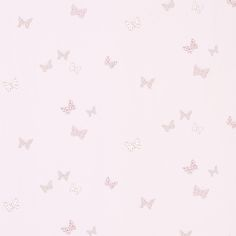 Bella Butterfly Childrens Wallpaper, Pink at LAURA ASHLEY