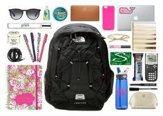"""""""Backpack"""" by elizabethjamesw ❤ liked on Polyvore featuring Lilly Pulitzer, Urbanears, Jonathan Adler, Kate Spade, Burt's Bees, philosophy, Ray-Ban, The North Face, Tory Burch and NARS Cosmetics"""