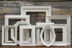 Shabby Chic Decor / Upcycled Distressed Picture Frame Set / Arlington Heights Collection on Etsy, $57.74 AUD