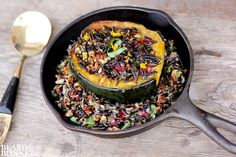 Roasted Acorn Squash Stuffed with Wild Rice Salad (Gluten-Free and Vegan)
