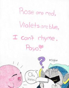 A poem by kirby