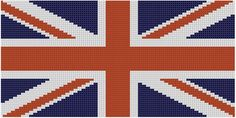 Looking for your next project? You're going to love British Flag Cross Stitch Pattern  by designer Motherbeedesigns. - via @Craftsy