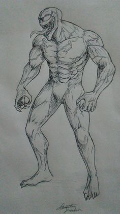Dec 2018 - My first full body drawing of Venom. I might add colour to it, if I have the time. This is also my first original pin, so enjoy. Comic Drawing, Body Drawing, Marvel Drawings, Art Drawings Sketches, Art Inspiration Drawing, Character Design Inspiration, Christina Lorre Drawings, Superhero Sketches, Spiderman Drawing