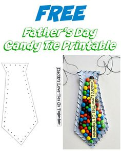 Free Father's Day Candy Tie Printable