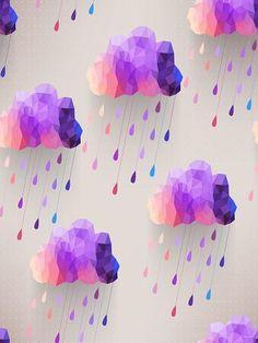 Katebackdrop:Kate Purple Meteor Shower Gray Wall Backdrop For Children