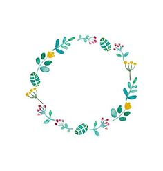 Watercolor flower frame vector by Favete on VectorStock® - Flower Power - Wreath Watercolor, Watercolor Flowers, Watercolor Art, Karten Diy, Wreath Drawing, Floral Border, Flower Frame, Flower Making, Painting Frames