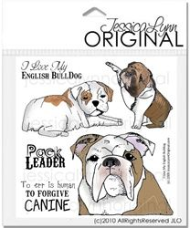 Canine Dog Stamps Bulldog Stamps Dogs Unmounted Rubber Stamps Bulldogs