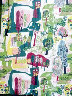 Vintage 1950s barkcloth mid century fabric collection