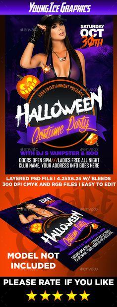 Halloween Crimson Party Flyer Template Party Flyer Flyer Template - Halloween costume party flyer