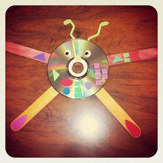 """Recycled robot"" craft for preschool story time at the library!"