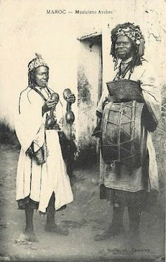1900's Moroccan Gnawa troubadours.