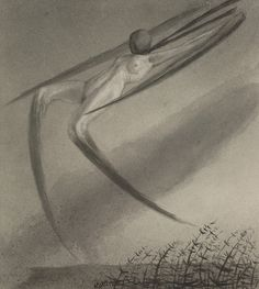 Alfred Kubin | Jede Nacht besucht uns ein Traum | 1900-1903 | Albertina, Wien - Sammlung Batliner | © Bildrecht, Wien, 2015 #FeiningerKubin AlbertinaSocialSpecial