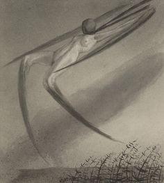 Alfred Kubin | Jede Nacht besucht uns ein Traum - Every Night We are Haunted by a Dream  | 1900-1903 | Albertina, Wien - Sammlung Batliner | © Bildrecht, Wien, 2015  #FeiningerKubin #ModernArt #Art #Symbolism #Expressionism #Colour