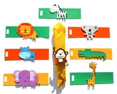 Cute Jungle Animal Themed Party Napkin Rings by ScrapsToRemember, $15.00