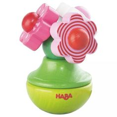 Flower Trio Clutching Baby Toy - looks like a really cute rattle! #oompatoys #habausa