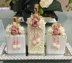 Image result for porta sabonete liquido decorado