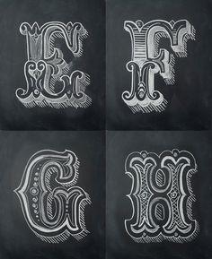 Chalk Alphabet by Antonio Rodrigues Jr, via Behance
