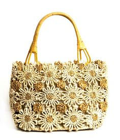 Flowery hand bag