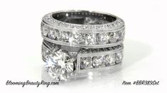 $7200 #WeddingRingSet With Very #LargeRoundDiamonds  http://www.bloomingbeautyring.com/wedding-ring-sets/jewelers-above-and-beyond-with-more-than-4-carats-of-huge-top-quality-round-diamonds-bbr389set/