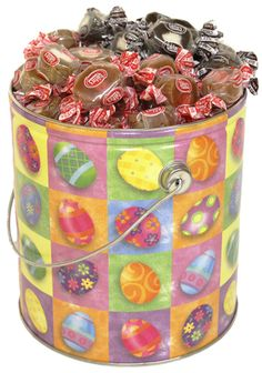 Goetzes caramel creams easter gift tin filled with nut free remember those delicious chewy caramels with the cream center you can get an easter egg negle Image collections