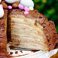Amarula Chocolate Crepe Cake for Easter