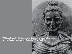A statue from of Buddha as the ascetic, nearly dying from starvation