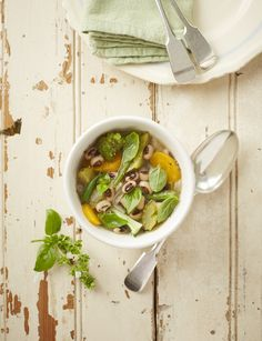 This is my version of an Italian minestrone soup with beans and lots of veggies.  Photo by Neville Lockhart