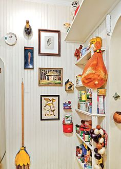 kitchen - quirky.... look at the cute broom cover decoration :)
