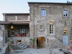 an 800 year old farm-house in the little known corner of Tuscany called the Lunigiana. Most of the house was built out of the stones from the village's castle. once things were safe to do so! Stone Exterior Houses, Stone Houses, House Exteriors, Italian Home, Old Farm Houses, My Dream Home, Dream Homes, Tuscan Style, Home Buying