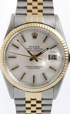 "Rolex ""Datejust"" Two Tone Watch"