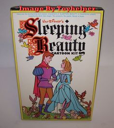 Vintage Walt Disney Sleeping Beauty Cartoon Kit Colorforms Play Set Unused  #Colorforms