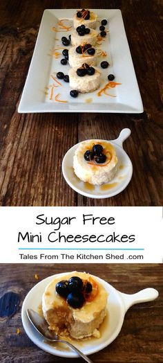 Sugar Free Mini Cheesecakes are delicious & you would never guess they were refined sugar free. Sweetened with reduced fresh orange juice & a touch of maple syrup. A perfect guilt free treat!