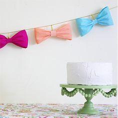 Guirnalda de lazos para decorar fiestas infantiles - Manualidades de papel y cartón - Manualidades para niños - Charhadas.com