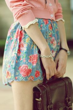 A little short but still super cute! I love the floral!